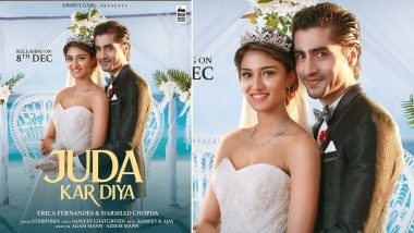 Juda Kar Diya Poster: Erica Fernandes and Harshad Chopra Are Back On Screens In this Exciting Music Video (View Post)