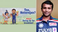 India vs Australia 2020-21: Amul Praises T Natarajan in Latest Topical Ad After Pacer Shines in T20I Debut