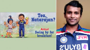 IND vs AUS 2020-21: Amul Praises T Natarajan in Latest Topical Ad After Pacer Shines in T20I Debut