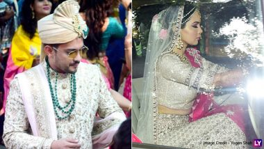 Aditya Narayan and Shweta Agarwal Look Pretty in Pastels For Their Wedding