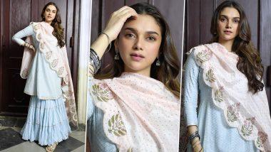 A Look at Aditi Rao Hydari's Sharara Shenanigans As Saheba in V!