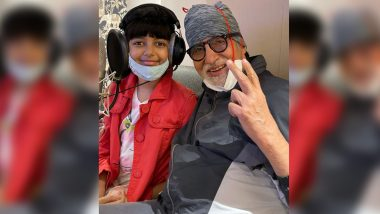 Amitabh Bachchan Enjoys a Recording Session With Granddaughter Aaradhya Bachchan, Shares an Adorable Photo on Social Media
