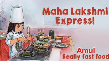 'Maha Lakshmi Express,' Amul Dedicates Topical Ad to UNICO Record Holder SN Lakshmi Sai Sri From Tamil Nadu Who Cooked 46 Dishes in 58 Minutes, See Pic