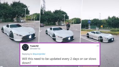 Video of 'Apple Car Concept' With Spherical Wheels Goes Viral: Netizens Who Believe It Is True Are Worried About Software Updates, Check Funny Reactions