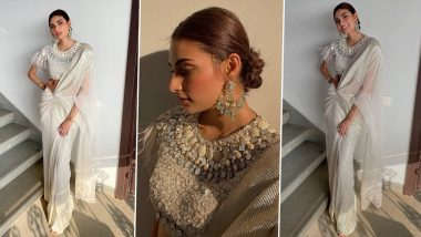 Athiya Shetty Spins a Splendid Ivory Style Story in a Tarun Tahiliani Concept Saree!