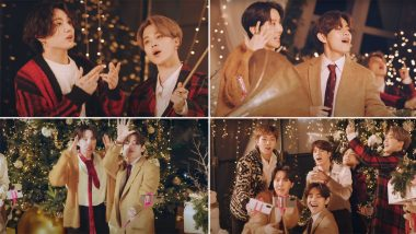 'Light It Up Like Dynamite!' BTS Gets in Christmas Mood As the K-Pop Band Releases 'Dynamite' Holiday Remix & the Video Will Cheer You Up for the Festive Season