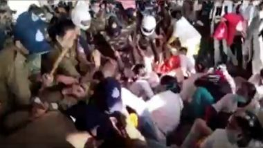 Bhopal Police Lathicharge COVID-19 Health Workers Who Were Protesting Against Being Laid Off From Work (Watch Video)
