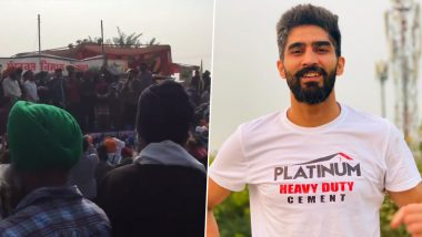 Vijender Singh to Return Rajiv Gandhi Khel Ratna Award if Farm Laws Not Withdrawn, Joins Farmers' Protest (Watch Video)