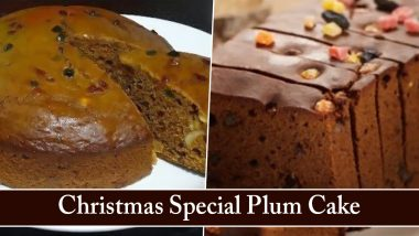 Plum Cake Recipe & Ingredients' List: How to Make Christmas 2020 Plum Cake That Is Simple Yet Delicious to Devour All at Once (Watch Videos)