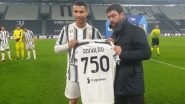 Cristiano Ronaldo Presented With Commemorative Jersey for Netting 750 Career Goals Ahead of Juventus vs Torino Serie A 2020–21 Match