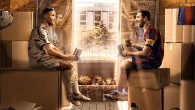 Cristiano Ronaldo, Lionel Messi Set to Resume Rivalry; Barcelona Share Creative Doodle of Both Superstars Ahead of BAR vs JUV UEFA Champions League 2020–21 Match