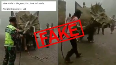 Dinosaur Caught Alive in Indonesia? Know the Truth About Viral Video of Triceratops Captured in East Java's Mojosemi Forest Park