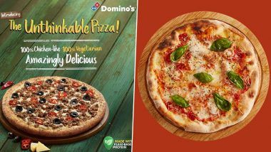 Vegetarian Chicken Pizza is Here! Domino's Launches India's First 'The Unthinkable' Plant-Based Protein Meat Pizza