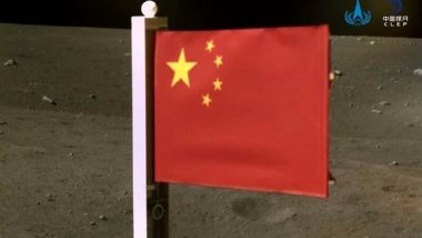 China Hoists Its Flag on Moon Before Chang'e-5 Spacecraft's Take-Off, See Picture