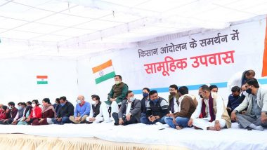 Delhi Govt Ministers, Including Manish Sisodia, Satyendar Jain, Gopal Rai, and AAP MLAs Hold 'Hunger Strike' in Support of Farmers' Protest