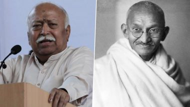 'Biggest Hindu Patriot': RSS Chief Mohan Bhagwat to Release Book on Mahatma Gandhi on First Day of New Year 2021