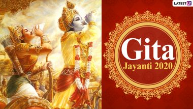 Gita Jayanti 2020 HD Images and Wallpapers for Free Download Online: WhatsApp Stickers, Facebook Greetings and Messages to Send on the Auspicious Day