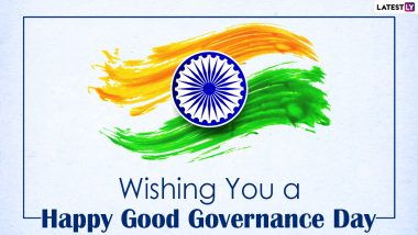 Good Governance Day 2020 Wishes and HD Images: WhatsApp Stickers, Facebook Greetings, Wallpapers & SMS to Send on the Birth Anniversary of Former PM Atal Bihari Vajpayee