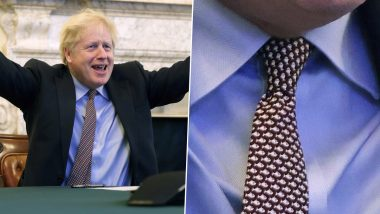 It's Fishy! Boris Johnson 'Trolls' EU by Wearing Fish-Print Tie After UK Clinches Post-Brexit Trade Deal