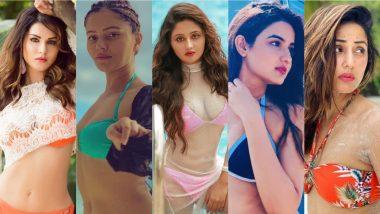 Hottest Bigg Boss Contestants in Bikinis! Rashami Desai, Hina Khan, Sunny Leone, Rubina Dilaik, Jasmin Bhasin, Kavita Kaushik & More Rocking Sexy Swimsuits Over the Years