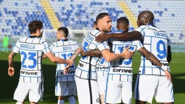 Cagliari 1–3 Inter Milan, Serie A 2020–21 Match Result: Nicolò Barella, Danilo D'Ambrosio and Romelu Lukaku Help Milan to Move to Second on Points Table