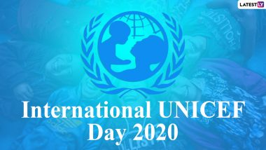 International UNICEF Day 2020 Date and Significance: Know All About the Organisation Responsible for Providing Humanitarian Aid to Children Across Countries On its 74th Anniversary