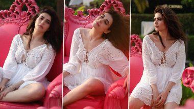 Karishma Tanna's Schiffli White Dress Is a Laidback Mood in Itself!