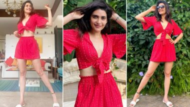 Karishma Tanna Wearing Her Heart Out on Her Cute Little Outfit That's Also Wallet Friendly!