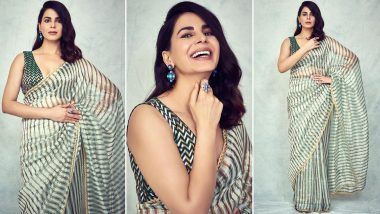 Kirti Kulhari's Mint Green Metallic Striped Saree Is a Wardrobe Must Have for Simplicity and Timeless Elegance Lovers!