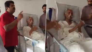 MDH 'Uncle' Mahashay Dharampal Gulati Seen Singing Along to Patriotic Song & Clapping in Hospital, Video Shot Before His Death Goes Viral