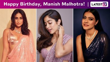Manish Malhotra Birthday Special: A Look at His Gorgeous Signature Sequined Saree, One Celebrity at a Time!