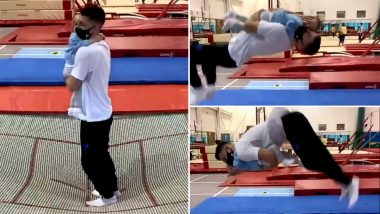 Gold Olympic Gymnast Max Whitlock Does Somersault on Trampoline Holding 1-Year-Old Baby, Twitterati Divided Over Viral Video
