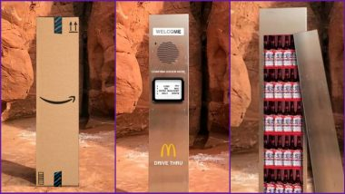 Monolith Funny Memes Join The Buzz of Disappearing Landmarks: Brands Like Amazon, Budweiser, McDonalds Join Netizens to Make Jokes by Installing Their Own Versions of The Rock