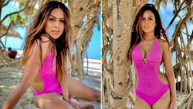 Nia Sharma Flaunts Her Hot Body In A Pink Monokini And We Are Totally Digging Her Look (View Pics)
