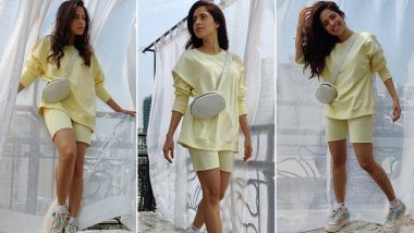 Nushrratt Bharuccha Is Notching Up Comfort Wear Quotient in a Cute Lime Co-Ord Set!