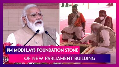 Central Vista Project: PM Narendra Modi Lays Foundation Stone Of New Parliament Building, Says, 'It Will Be Testament To Self-Reliant India'