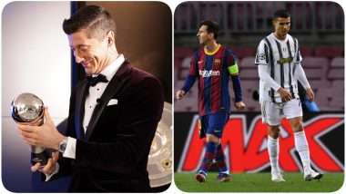 Barcelona Labels Lionel Messi as the Real GOAT After He Loses Best FIFA Men's Player Award 2020 to Robert Lewandowski, Juventus Fans Remind Them of Cristiano Ronaldo