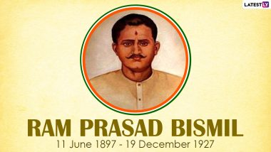 Ram Prasad Bismil 93rd Death Anniversary: Know Interesting Facts About Revolutionary of India Who Fought Against British Rule