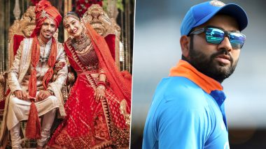 Rohit Sharma Comes up With a 'Googly' as he Wishes Newly-Wed Yuzvendra Chahal and Dhanashree Verma (View Post)