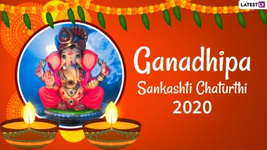 Ganadhipa Sankashti Chaturthi 2020 Wishes and HD Images: WhatsApp Messages, Lord Ganesha Facebook Photos, GIFs, SMS to Send Greetings of This Auspicious Day
