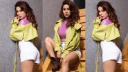 Bigg Boss 13's Shehnaaz Gill Looks Tempting In A Shiny Pink Crop Top and White Shorts (View Pics)