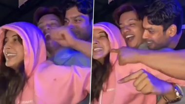 Sidharth Shukla and Shehnaaz Gill Party Hard in Goa, Groove To 'Teri Bhabhi' Song (Watch Video)