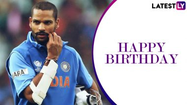 Shikhar Dhawan Birthday Special: Quick Facts About the Team India and Delhi Capitals Opening Batsman