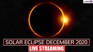 Total Solar Eclipse December 2020 Live Streaming Online: Know All Details to Watch Year's Last Surya Grahan Today