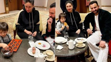 After Pottery, Taimur Ali Khan Flaunts His Culinary Skills As Proud Parents Kareena Kapoor Khan and Saif Ali Khan Look On (View Pics)