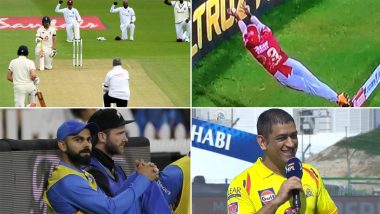 Year Ender 2020: Virat Kohli-Kane Williamson's Camaraderie Near Boundary Rope, Nicholas Pooran's Gravity-Defying Save, MS Dhoni's 'Definitely Not' Statement & Other Top Cricket Moments From This Season