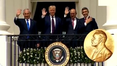 Donald Trump Awards Himself Nobel Prize for Israel-Arab Peace Deal? Watch Video Shared by US President