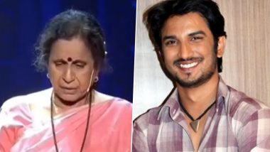 Zee Rishtey Awards 2020: Sushant Singh Rajput's Onscreen 'Aai' in Pavitra Rishta, Usha Nadkarni, Breaks Down While Remembering the Late Actor (Watch Video)