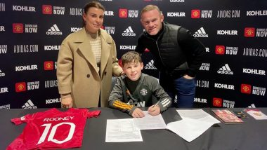 Wayne Rooney Proud of Son Kai as He Signs For Manchester United Youth Academy, View Adorable Family Picture