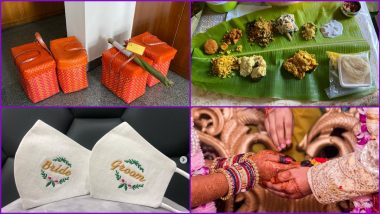 Marriage Food Delivery At Doorstep! Innovative Wedding Trend Goes Viral; From Zoom Calls to Bride-Groom Masks, How Big Fat Indian Weddings Adapt to Social Distancing as New Normal